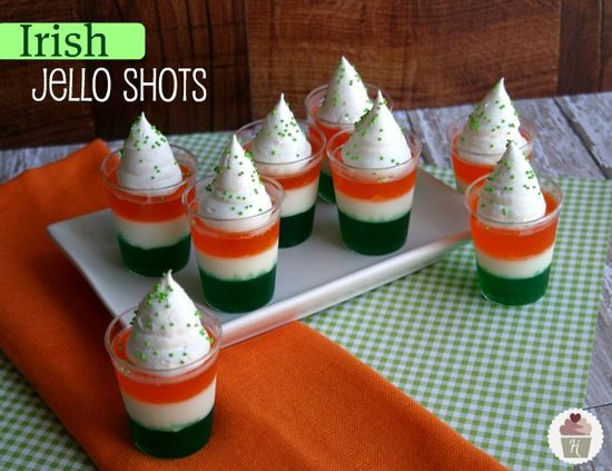 Irish Jello Shots & LOTS of St. Patrick's Day Food