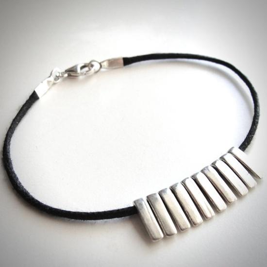 Sterling Spikes bracelet by JewelryByMaeBee on Etsy, $28.00