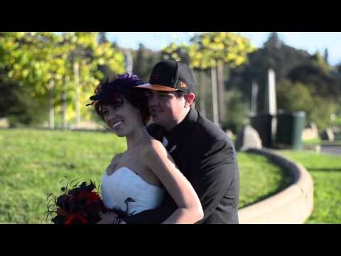 Till Death Do Us Part - Kristen & Joe Cemetery Wedding. Awesome wedding where the bride actually showed up in a coffin.