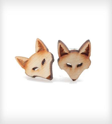 fox stud earrings.