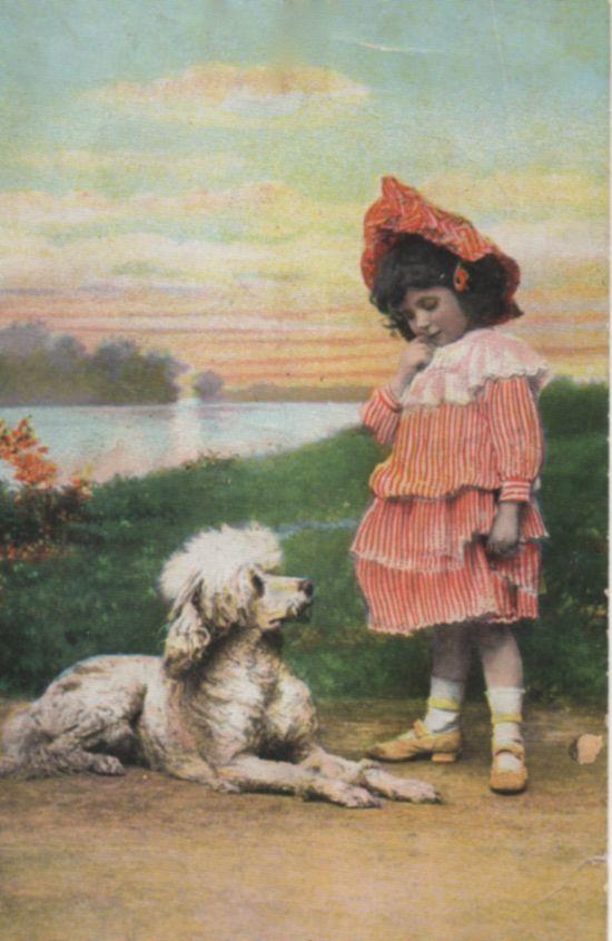 **FREE ViNTaGE DiGiTaL STaMPS**: Vintage Printable - Girl and Dog Photo Image