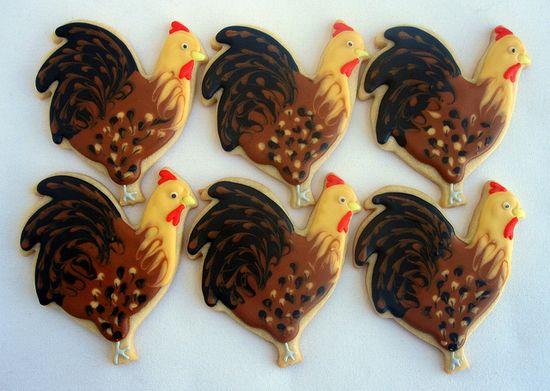 Chicken sugar cookies!