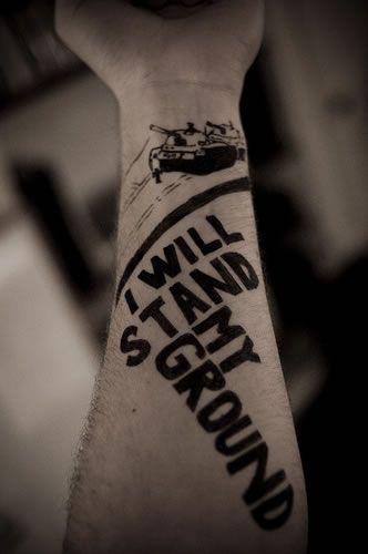 I will stand my ground
