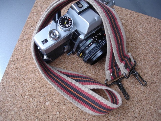 Vintage Upcycled Camera Strap - See all of our Vintage/Upcycled Camera Straps. $19.99, via Etsy.