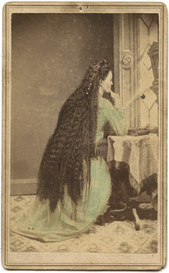 "Rare Civil War Era Photo ID'd Woman with Very Long Hair.  1Corinthians 11:15 ""But if a woman have long hair, it is a glory to her: for her hair is given her for a covering"""