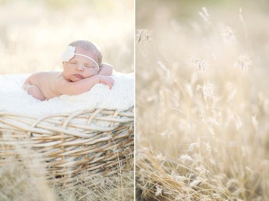 outdoor newborn session