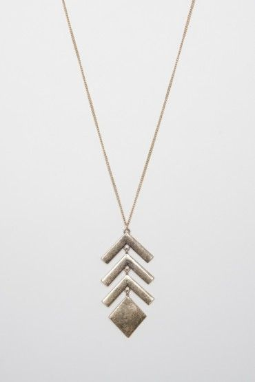 Scaled Arrow Necklace