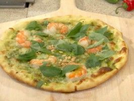 Grilled Shrimp and Cilantro Pesto Pizza : Recipes : Cooking Channel