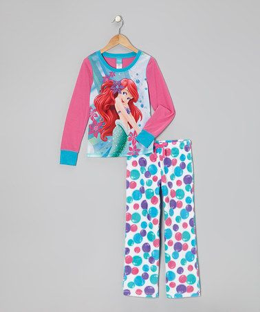 Pink & Blue Ariel Bubbles Pajama Set - Girls by Disney on #zulily!