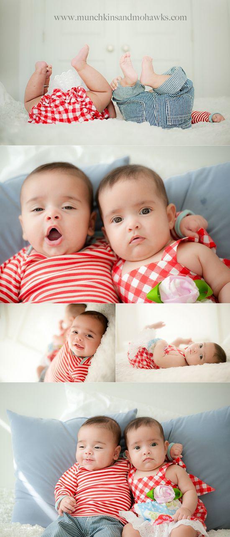 5 month old twin boy girl babies www.munchkinsandm...