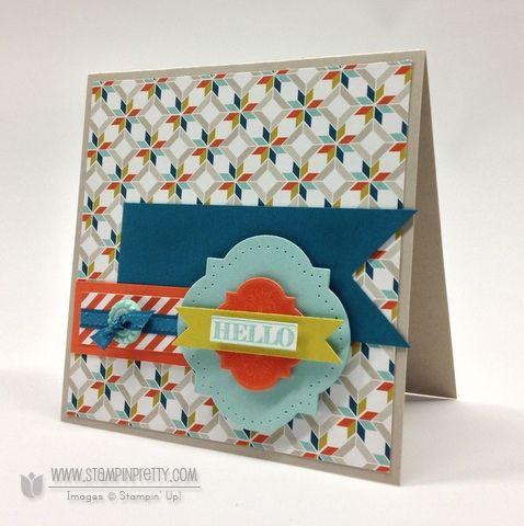 Stampin up stampinup order pretty simply scored envelope saleabration friendship preserve card idea