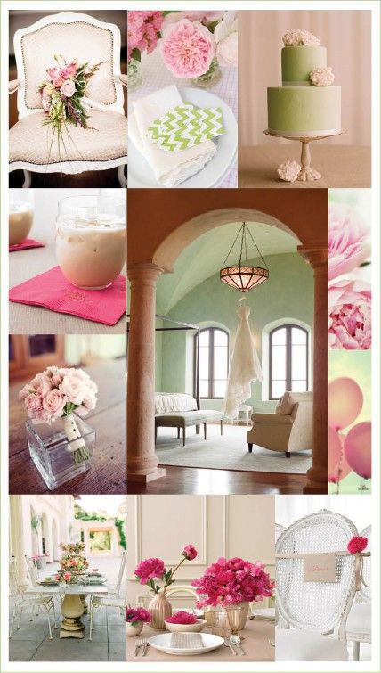 A softer side of preppy: pink, green, and taupe.