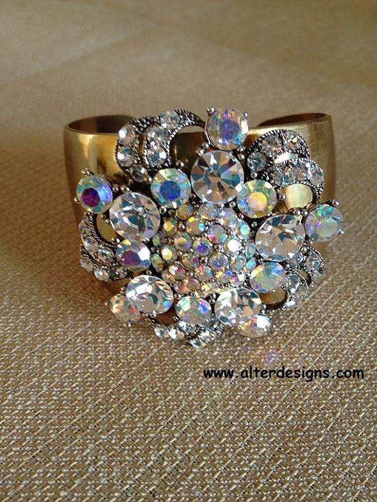 #Cocktail #Bracelet - Cuff Bracelet #Swarovski Crystal Bracelet Crystal Cuff Bracelet #Glam #Jewelry