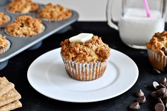 Graham Cracker Chocolate Chip Muffins. Divine!