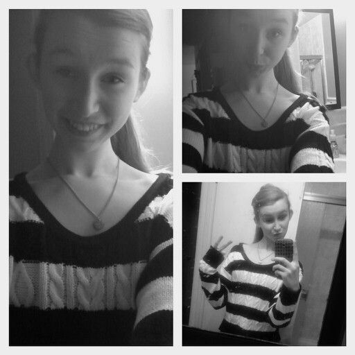 First 3 pics with my new phone and sweater! Yayyyyyyy!! Xx