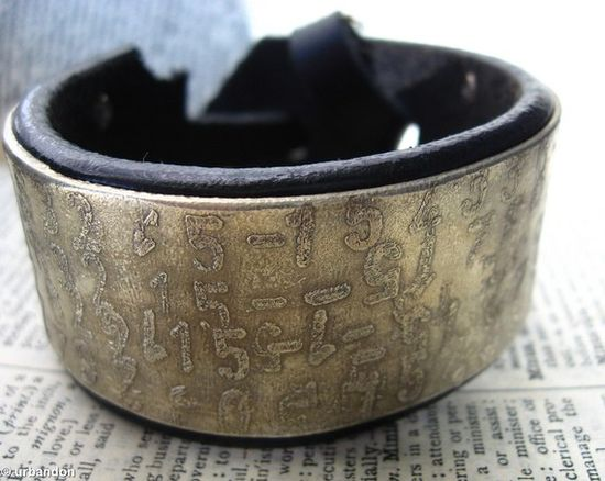 random numbers cuff bracelet.