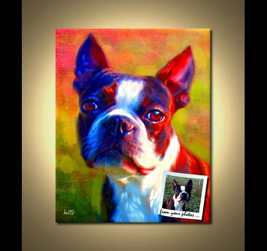 Custom Pet Portrait  What!? This is amazing and I'm totally doing it! $40.00