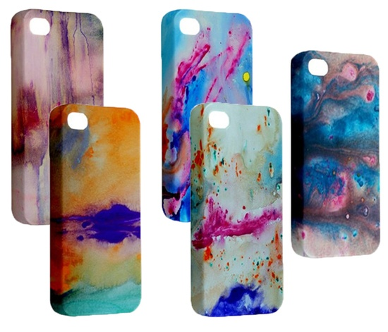Abstract iPhone 5 cases -- so pretty!