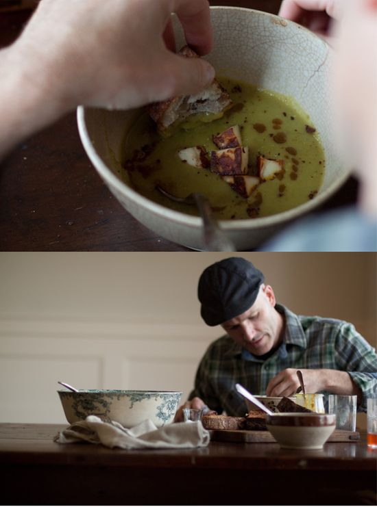 Green Lentil Soup with Curried Brown Butter Recipe