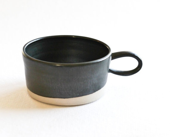 Copenhagen Coffee Cup (black). Paper & Clay shop
