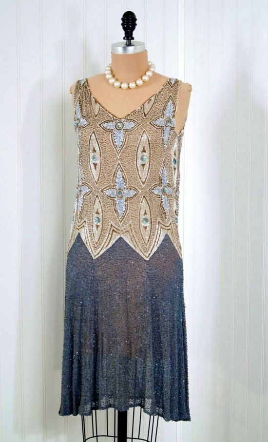 1920's beaded and sequined dress