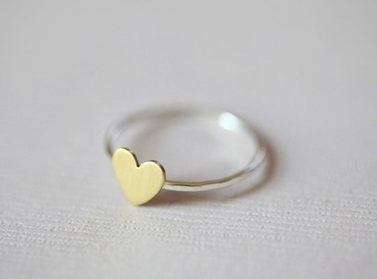 Just a tiny heart ring
