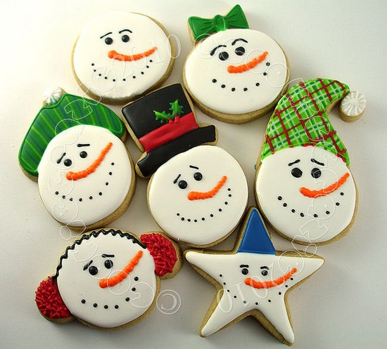 christmas snowmen cookies crafts
