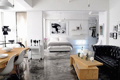 studio loft.. Always wanted to live in a studio apartment!