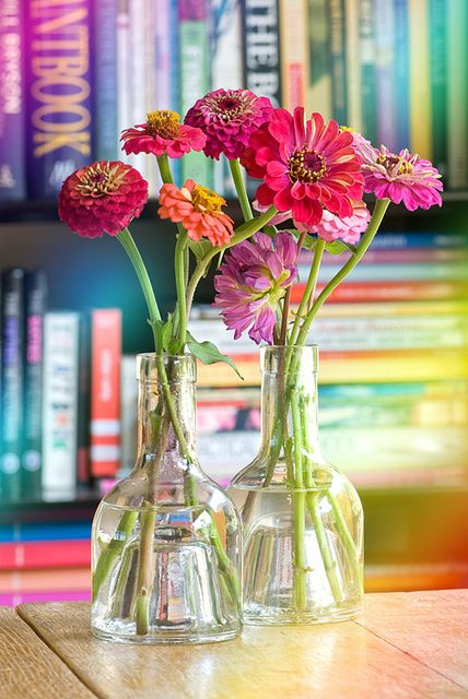 We're planting Zinnias this year. I can't wait for a house filled with flowers! (photo by Janine)