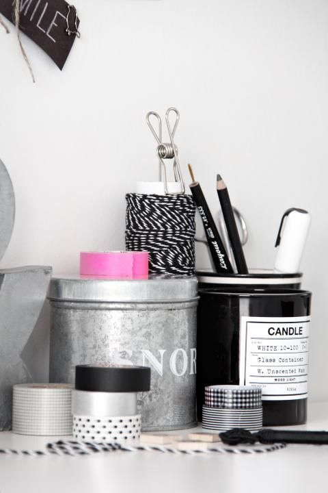 Office storage tins