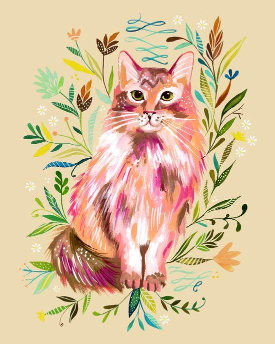 Prairie Cat. $18.00, via Etsy.