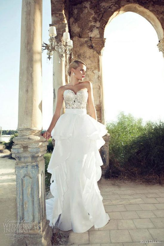 love it!!!  riki dalal 2013 bridal strapless gown