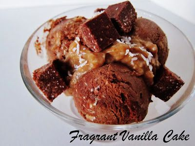 Raw German Chocolate Cake Ice Cream