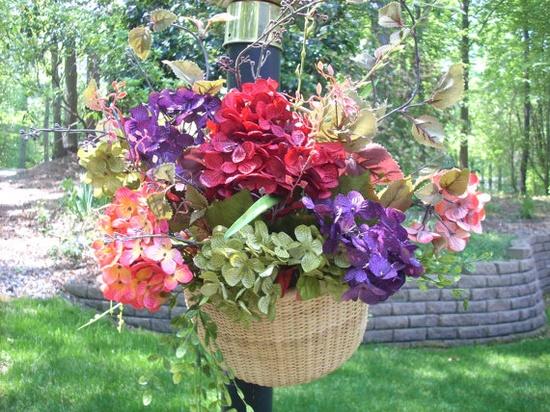 NANTUCKET BASKET HYDRANGEA Door Wreath Or by CustomFloralDesigns, $70.00