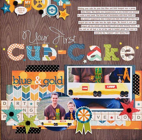 Your First Cub-Cake - Ginger Williams Scrapbook.com