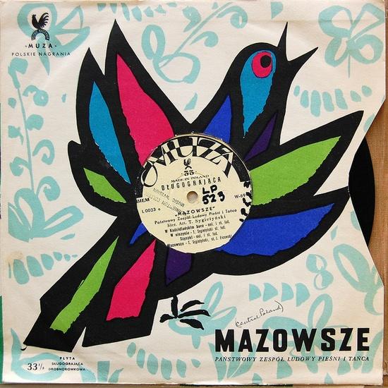 1950s Polish album liner design