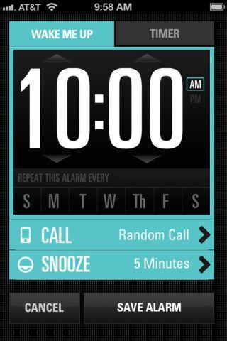 Pretty sweet! #UI #UX #design #smartphone Jimmy Fallon's Wake Up Call app