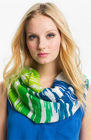 Echo Ombré Ikat Stripe Infinity Scarf available at #Nordstrom.
