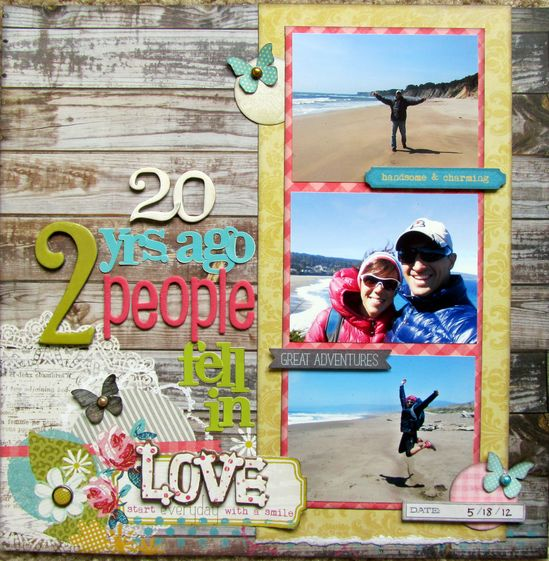 #papercraft #scrapbook #layout.   20 years ago 2 people fell in love - Scrapbook.com