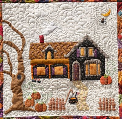 October Magic - detail, design by Lynn Wilder, Sew'n Wild Oaks Quilting Blog