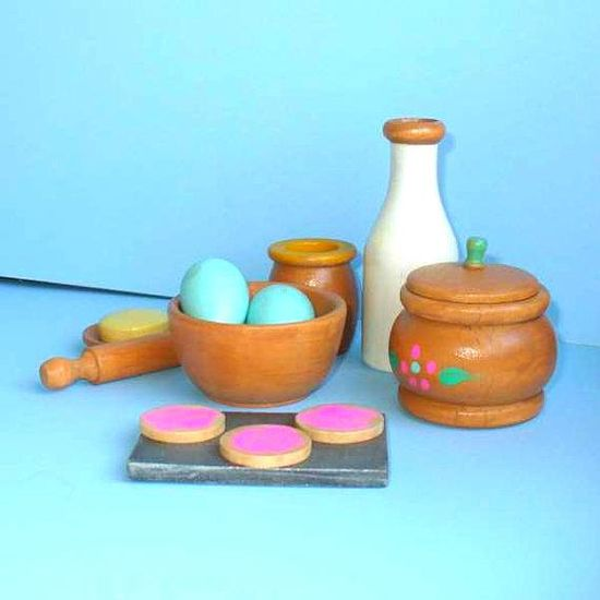 Wooden Toy, Waldorf Doll Baking Set on Etsy, $45.00