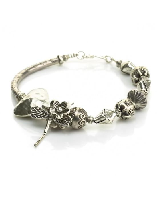 Handmade Silver Jewelry Dragonfly Silver Bracelet