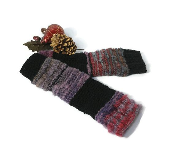 CIJ ChristmasinJuly Hand Knit Gloves Fingerless by ArlenesBoutique, $45.00