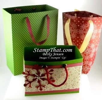 Stampin' Up! Handmade Gift Bags