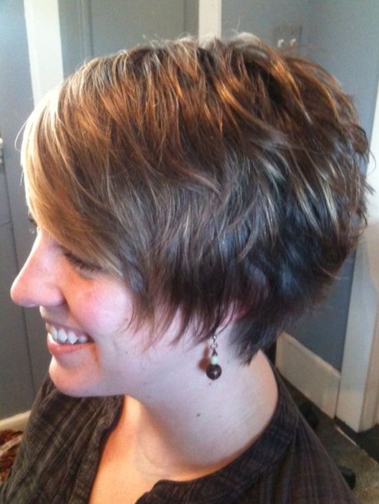 by Tracey @ voila hair and day spa- razored texture Short hair style