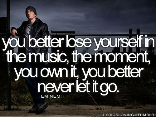*Lose Yourself* ~Eminem.      If this song doesn't motivate ya then I don't know!!