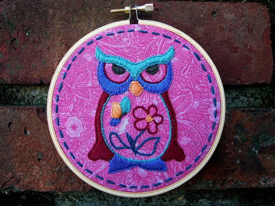 Owl Embroidery #owl #embroidery