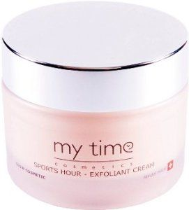 SPORTS HOUR by MyTime Cosmetics. $70.00. Skin cleanser and  de toxifier. Paraben free. Facial exfoliant cleanser. This exfoliant was dreamt up for skins that have an urgent need to get rid of their impurities following on from physical exertions such as sport, ab-sessions and more, when the skin sweats and needs a complete purge. This caressing face paste with the texture of an aerial gel, cleanses with no aggression and leaves a sensation of pure, unequalled freshness b...