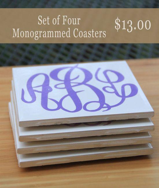 #Monogram #Coasters #monogramcoasters #diy
