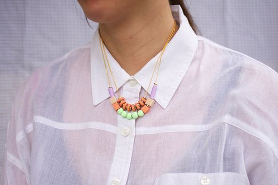 pastel mixed bead necklaces from AMM jewelry